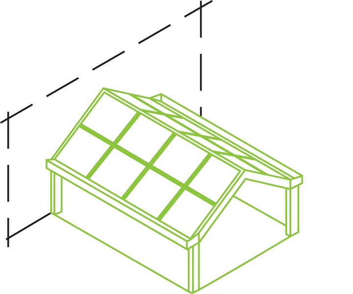 Schüco glass saltak teknisk skisse