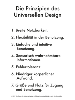 Prinzipien Universal Design