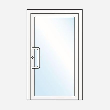 Porte un vantail / Porte vitrée