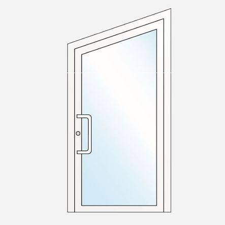 Porte spécifique : porte vitrée avec forme