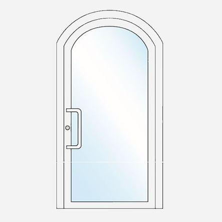 Porte spécifique : porte vitrée cintrée
