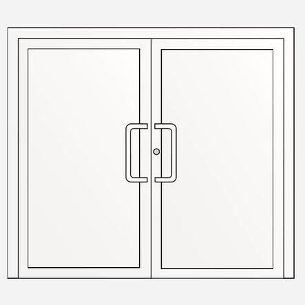 Porte deux vantaux : porte tiercée panneaux décoratifs