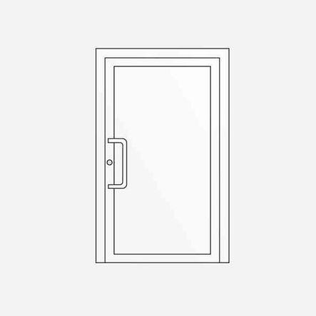 Jednokřídlé vchodové dveře
